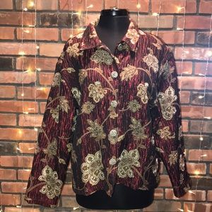 Tantrums Collections Red and Gold Blazer
